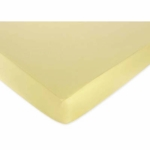 Sweet JoJo Designs Construction Zone Crib Sheet in Solid Yellow