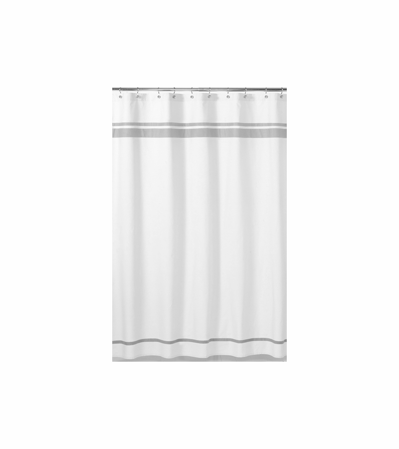 Sweet JoJo Designs Hotel White Gray Shower Curtain