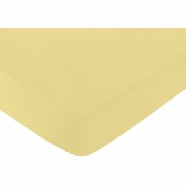Sweet JoJo Designs Mod Garden Crib Sheet in Yellow