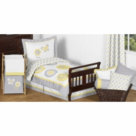 Sweet JoJo Designs Mod Garden Toddler Bedding Set