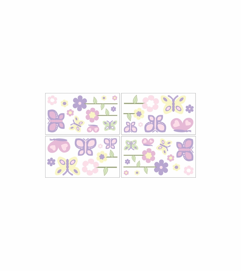 Home Sweet Jojo Designs Pink Purple Erfly Collection Item Decal By Pk Lav