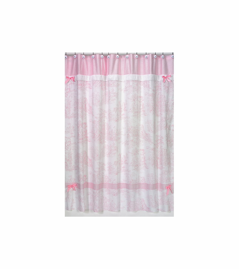 Sweet JoJo Designs Pink Toile Shower Curtain