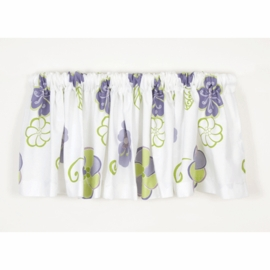 Sweet Potato LuLu White Floral Window Valance