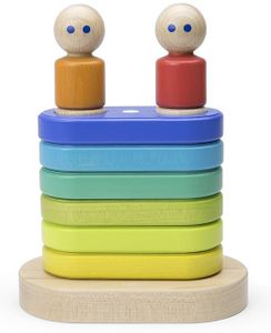 Tegu Magnetic Floating Stacker - Rainbow