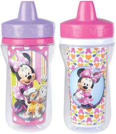 The First Years 9 oz Insulated Sippy Cups 2 PK - Minnie Mouse