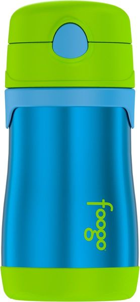 Thermos Foogo 10 oz Vacuum Insulated Stainless Steel Straw Bottle - Blue/Green