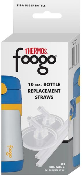 Thermos Foogo 10oz Stainless Steel Bottle Replacement Straws 2-Pack
