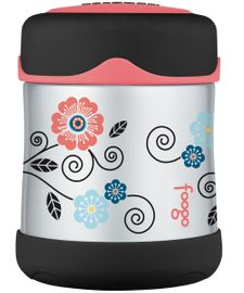 Thermos Foogo Leak-Proof Stainless Steel Food Jar - 10 Ounce - Poppy Patch