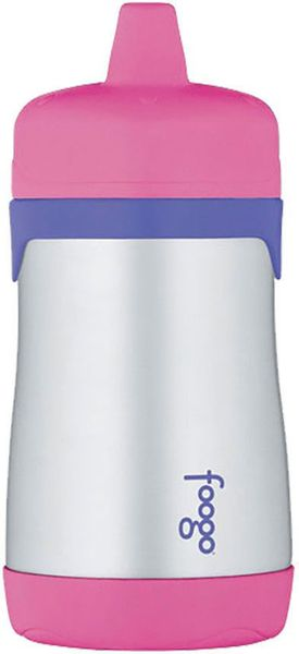 Thermos Foogo Leak-Proof Stainless Steel Sippy Cup - 10 Ounce - Pink/Purple