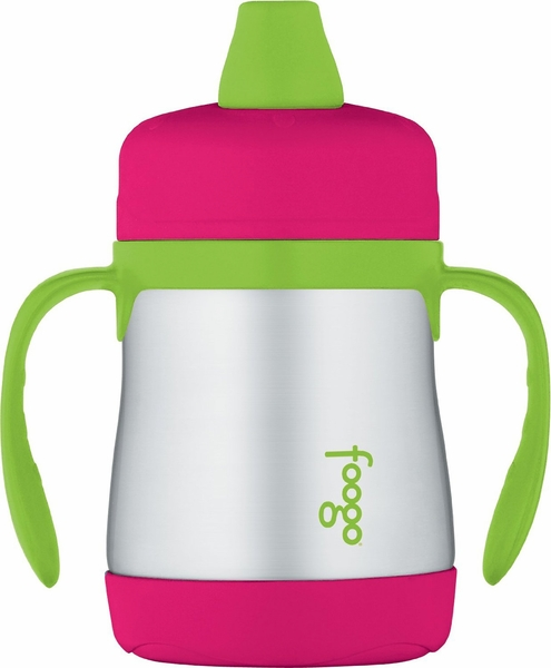 Thermos Foogo Leak-Proof Stainless Steel Soft Spout Sippy Cup - 7 Ounce - Watermelon