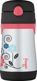 Thermos Foogo 10 oz Vacuum Insulated Stainless Steel Straw Bottle - Poppy Patch