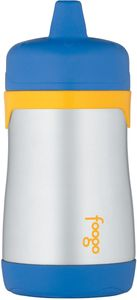 Thermos Foogo Leak-Proof Stainless Steel Sippy Cup - 10 Ounce - Blue/Yellow