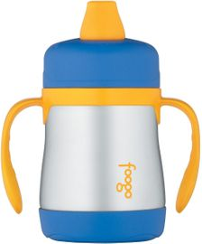 Thermos Foogo Leak-Proof Stainless Steel Sippy Cup - 7 Ounce - Blue/Yellow