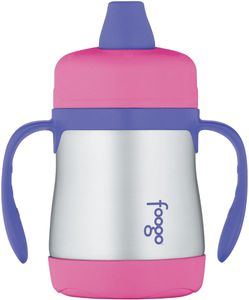 Thermos Foogo Leak-Proof Stainless Steel Sippy Cup - 7 Ounce - Pink/Purple