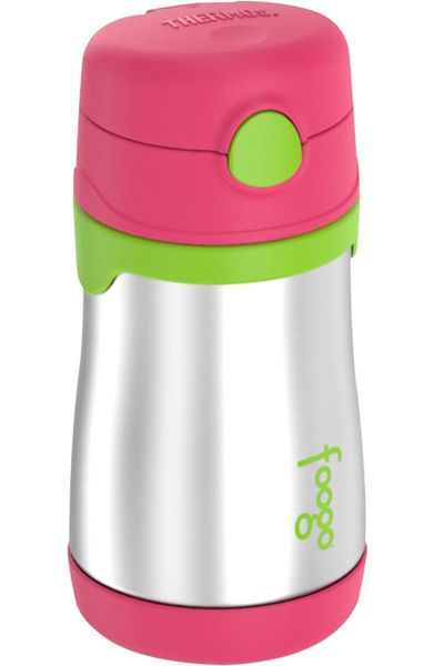Thermos Foogo 10 oz Vacuum Insulated Stainless Steel Straw Bottle - Watermelon/Green