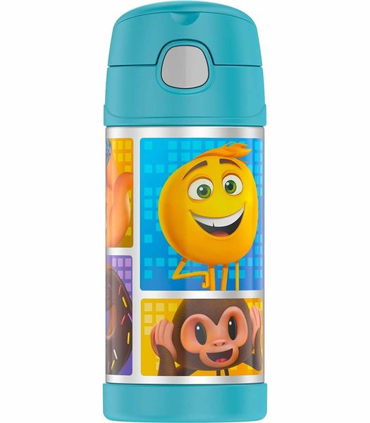Thermos FUNtainer Vacuum Insulated Stainless Steel Bottle 12oz - Emoji Movie