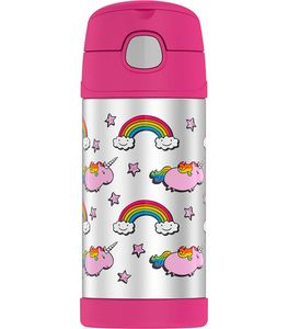 Thermos FUNtainer Vacuum Insulated Stainless Steel Bottle 12oz - Fat Unicorn