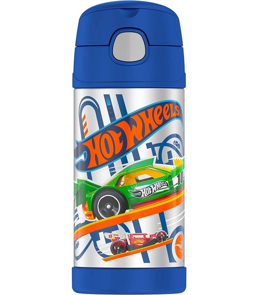 Thermos FUNtainer Vacuum Insulated Stainless Steel Bottle 12oz - Hot Wheels