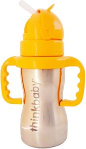 Thinkbaby Thinkster of Steel 9 oz Straw Cup - Yellow