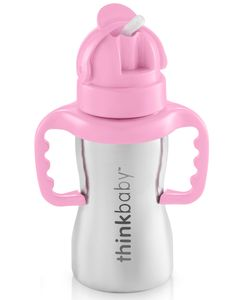 Thinkbaby Thinkster of Steel 9 oz Straw Cup - Pink