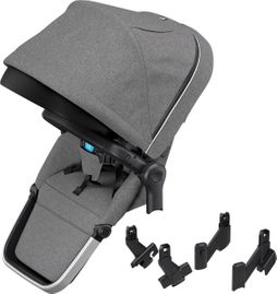 Thule Sleek Sibling Seat - Grey Melange