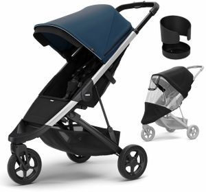 Thule Spring Stroller + Essentials Bundle - Majolica Blue