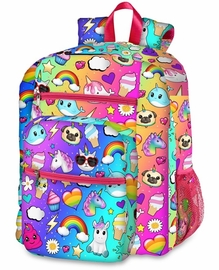 Top Trenz 5 Zipper Kid Backpack - Dream of Unicorn