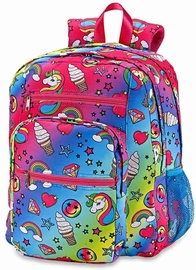 Top Trenz 5 Zipper Kid Backpack - Unicorn Fantasy