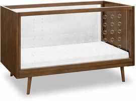Ubabub Nifty Clear 3-in-1 Crib - Walnut