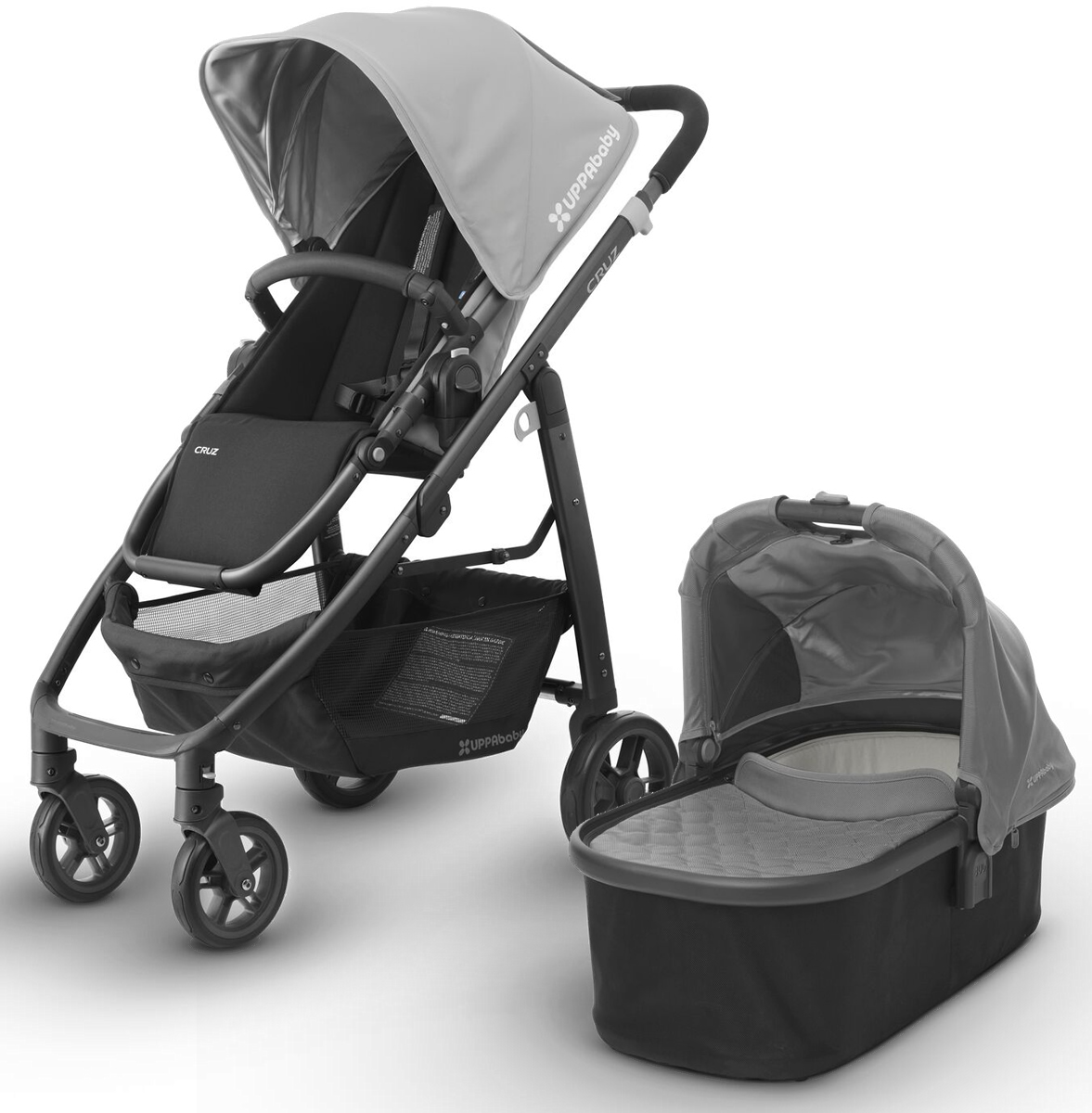 Uppababy 2017 Cruz Stroller Bassinet Pascal Grey Carbon