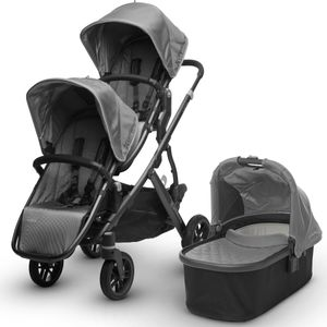 UPPAbaby 2017 Vista Double Stroller - Pascal (Grey/Carbon)
