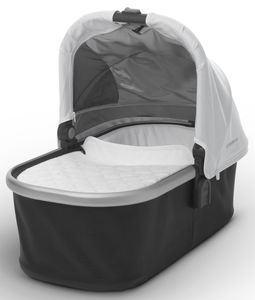 UPPAbaby 2018 Bassinet - Loic (White/Silver)