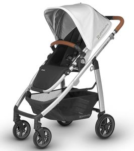 UPPAbaby 2018 Cruz Stroller - Loic (White/Silver/Saddle Leather)