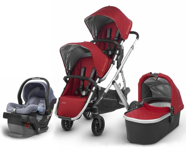 UPPAbaby 2018 Vista Double Stroller + Mesa Car Seat - Denny/Henry
