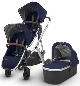 UPPAbaby 2018 Vista Double Stroller - Taylor (Indigo/Silver/Saddle Leather)