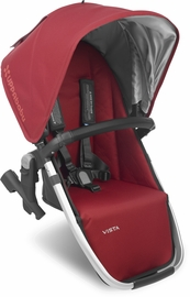 UPPAbaby 2018 VISTA RumbleSeat - Denny (Red/Silver/Black Leather)