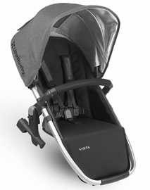 UPPAbaby 2018 VISTA RumbleSeat - Jordan (Charcoal Melange/Silver/Black Leather)