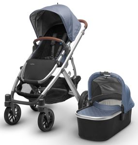UPPAbaby 2018 / 2019 Vista Stroller - Henry (Blue Marl/Silver/Saddle Leather)