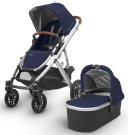 UPPAbaby 2018 Vista Stroller - Taylor (Indigo/Silver/Saddle Leather)