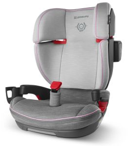 UPPAbaby 2020 Alta Belt Positioning Booster Seat - Sasha (Grey Mélange/Pink Accent)