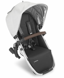 UPPAbaby 2019 VISTA RumbleSeat - Bryce (White Marl/Silver/Chestnut Leather)