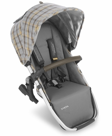 UPPAbaby 2019 VISTA RumbleSeat - Spenser (Grey & Yellow Tartan/Silver/Moss Leather)
