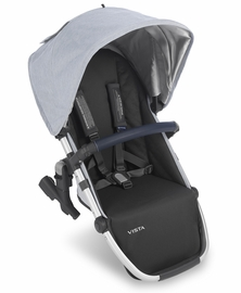 UPPAbaby 2019 VISTA RumbleSeat - William (Chambray Oxford/Silver/Navy Leather)