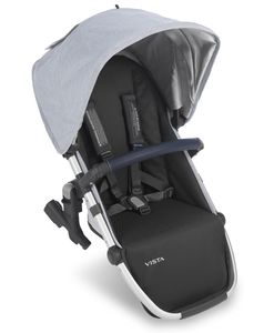 Loic White//Silver//Saddle Leather 2018 UPPAbaby Vista RumbleSeat