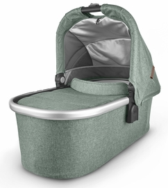 UPPAbaby 2020 Bassinet- Emmett (Green M�lange/Silver/Saddle Leather)
