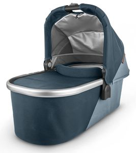 UPPAbaby 2020 Bassinet - Finn (Deep Sea/Silver/Chestnut Leather)