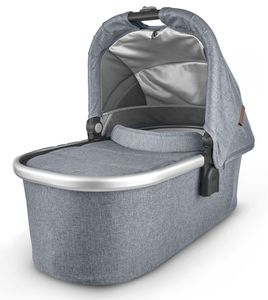 UPPAbaby 2020 Bassinet - Gregory (Blue Mélange/Silver/Saddle Leather)