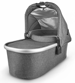 UPPAbaby 2020 Bassinet - Jordan (Charcoal Mélange/Silver/Black Leather)