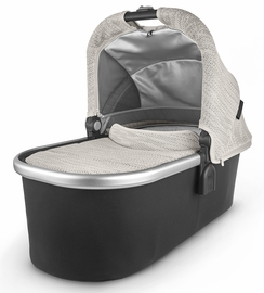 UPPAbaby 2020 Bassinet- Sierra (Dune Knit/Silver/Black Leather)