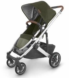 UPPAbaby 2020 Cruz V2 Stroller - Hazel (Olive/Silver/Saddle Leather)